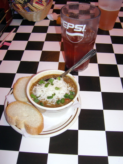 A cuppa gumbo at world-famous Acme Oyster House.