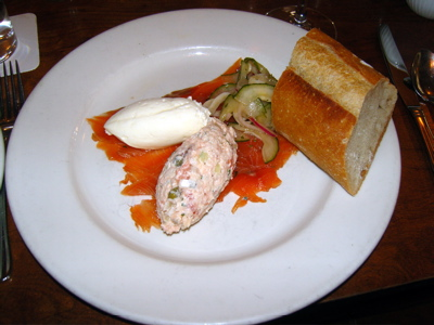 The Smoked Salmon platter at Cafe Campagne makes a lovely, light summer brunch.