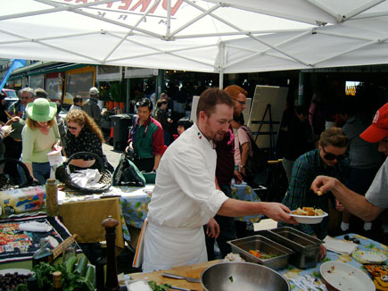 Chef Demos at the Pike Place Market