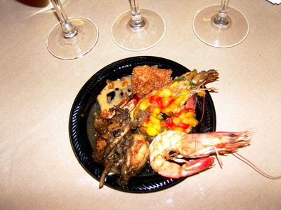 A plate of wild shrimp we sampled during a workshop at IACP in New Orleans.