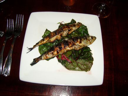 The Grilled Sardines at Voilà Bistrot did not disappoint.