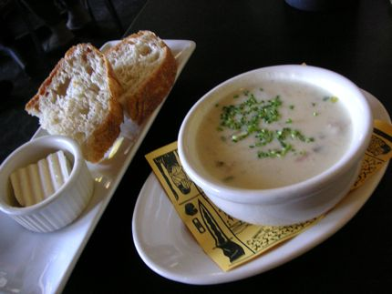 A cup of Manila Clam Chowder from Etta\'s Seafood lifts the spirits and fills the belly.