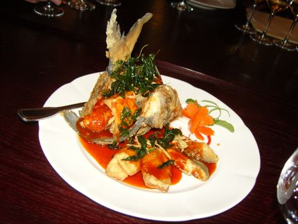 Crispy pompano was the star of the show at a recent media dinner at Racha Thai & Asian Kitchen.