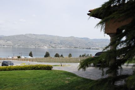 A scene from the patio at the beautiful Tsillan Cellars overlooking Lake Chelan.