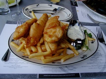 Pike Place Ale-Battered Halibut & Chips makes for a tasty lunch or dinner at Steelhead Diner seven days a week.