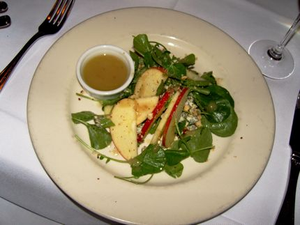 Eva\'s Cameo Apple and Mache Salad is one of the first-course offering during the 30 for $30 promotion in November 2008.