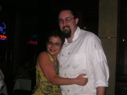 Serafina owner and founder Susan Kaufman hugs new executive chef Dylan Giordan at the popular Eastlake eatery.