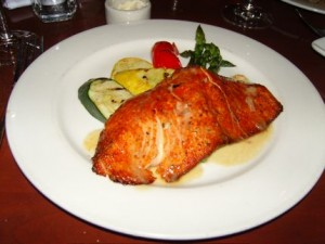 The red salmon at Elliott\'s Oyster Bar & Restaurant.
