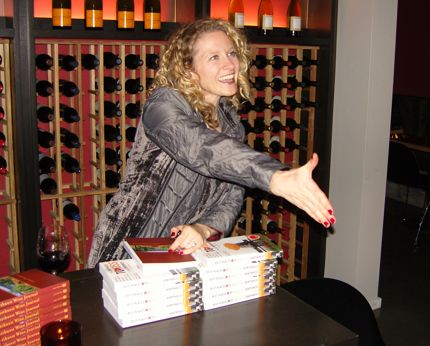 Teri Citterman greets the crown and signs her latest book in early December.