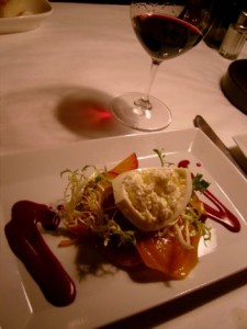 The Beet Salad with Burrata is to die for at Tulio Ristorante in downtown Seattle.