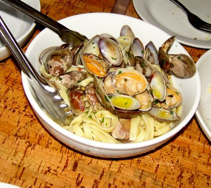 Tagliatelli with Clams, Garlic, and Chilies shines at How to Cook a Wolf atop Queen Anne.