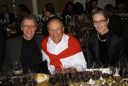 Eric Asimov, Tony Terlato, and brj dining in Napa.