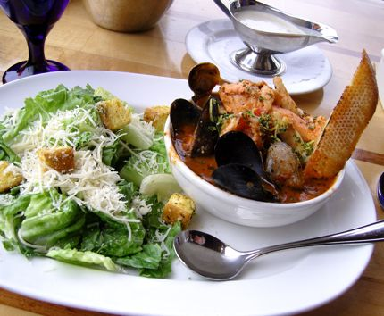 Cioppino is a traditional Italian seafood stew.