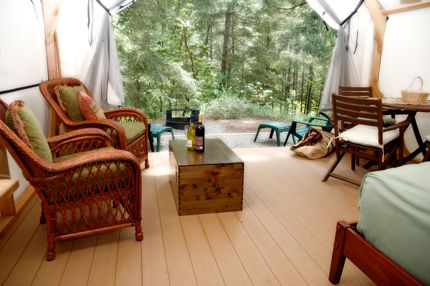 Glamping, or glamour camping, is becoming popular in Roche Harbor, Washington.