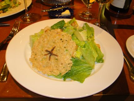 The Caesar Salad at Seastar Seattle features a miniature anchovy star!