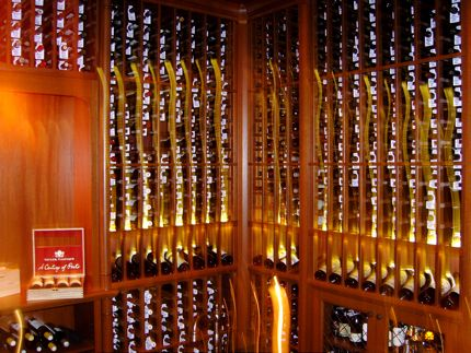 The impressive new wine cellar at Tulalip Resort Casino in Marysville, Washington.