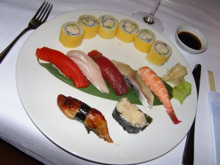 Sushi is flappin\' fresh at Blue Water Cafe & Raw Bar in Vancouver, BC.