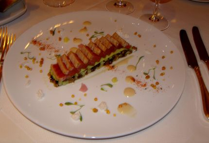 A tuna dish at Diva at the Met in Vancouver is one of the most beautiful presentations we\'ve ever seen. 