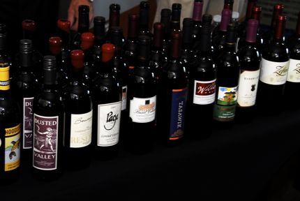 Just one line-up of bottles from Taste WA 2009.