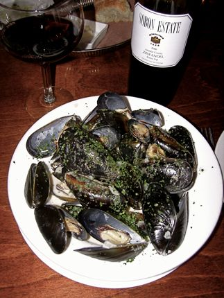 The Blue Cheese Mussels at Voilà Bistrot never fail to please.