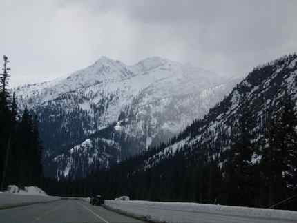 The North Cascades Highway in all its snowy glory.