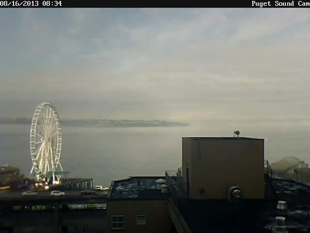 Puget Sound Cam Foggy Friday