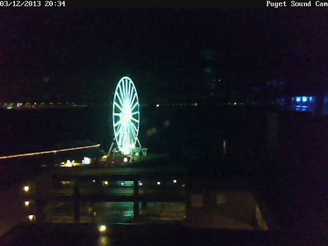 Puget Sound Cam Bright Night Photo