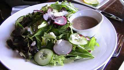 Even the mixed greens are special at Portals restaurant at Suncadia Resort
