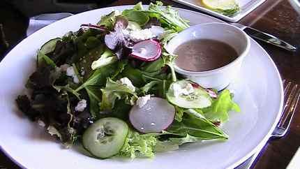 Even the mixed greens are special at Portals restaurant at Suncadia Resort