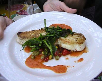 The Pink Door Fish Dish of the Day--Halibut