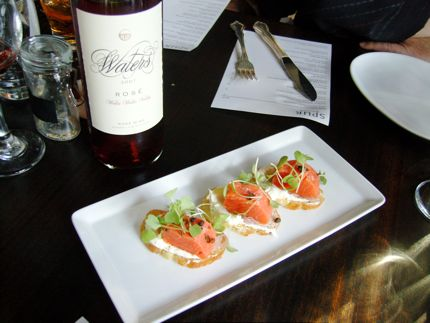Sockeye Salmon Crostini at Spur is a perfect summertime treat.