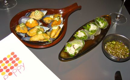 Poppy Mussels and Crab Rolls
