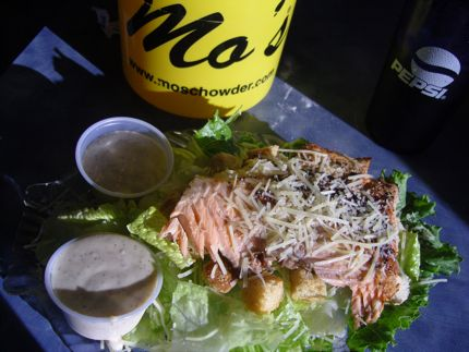 Mo\'s Blackened Salmon Caesar