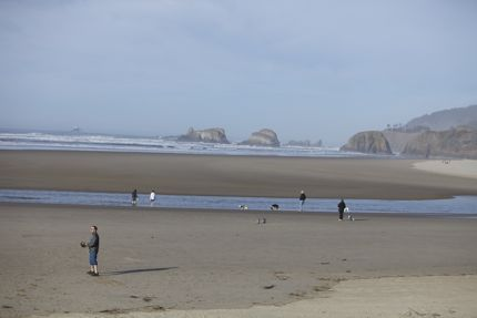 Cannon Beach Beach Scene