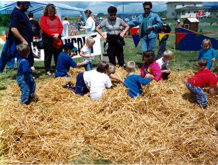 Biringer Farms pennies in the hay game photo
