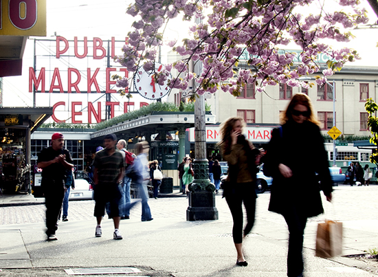 Pike place market spring photo