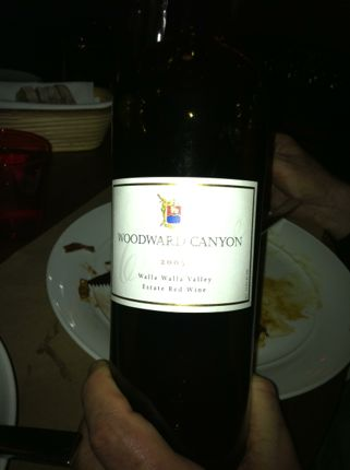 RN74 Woodward Canyon Wine