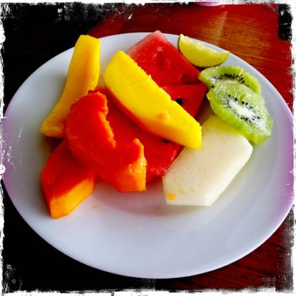 Fruit plate aboard seabourn quest ship