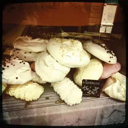 Giant meringues in St. Malo