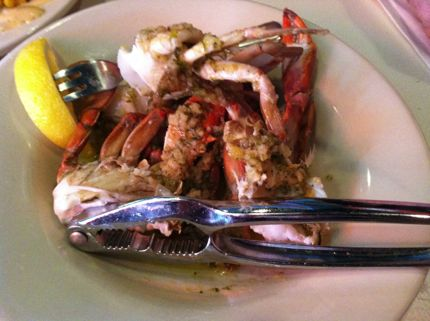 Charleston Crab House Garlic Crabs