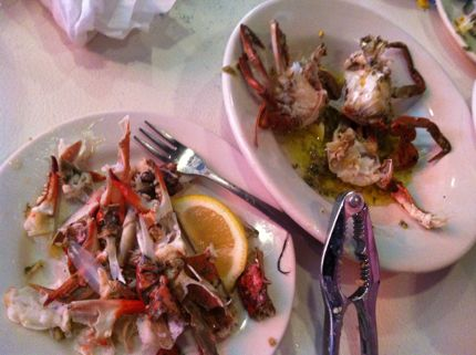 Charleston Crab House Garlic Crabs Eaten