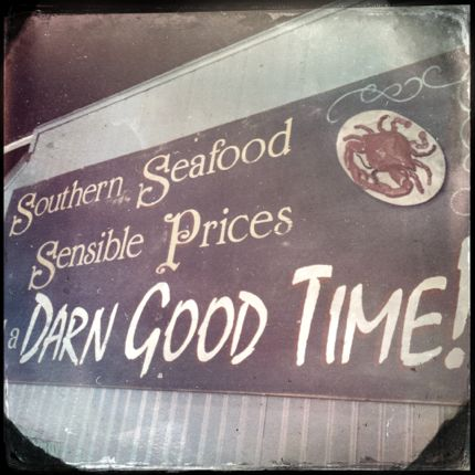 Charleston Crab House Seafood Sign