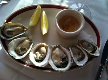 Place pigalle oysters on the half shell