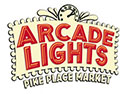 Arcade lights pike place market logo northwest wining and dining downtown seattle website