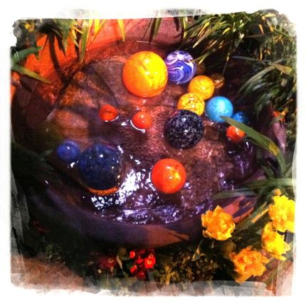 Garden show 2014 glass art spheres northwest wining and dining downtown seattle website link