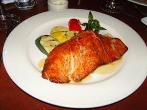 The red salmon at Elliott\'s Oyster Bar & Restaurant.