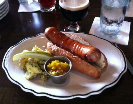 Cask & Larder ribeye hotdog